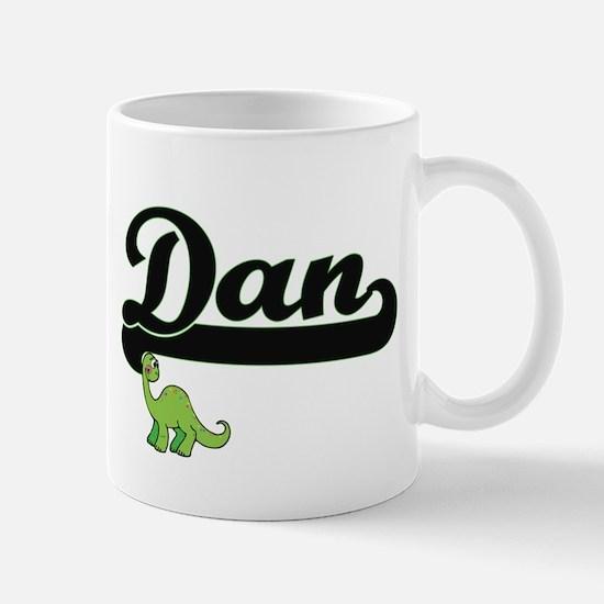 Dan Classic Name Design with Dinosaur Mugs
