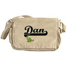 Dan Classic Name Design with Dinosau Messenger Bag