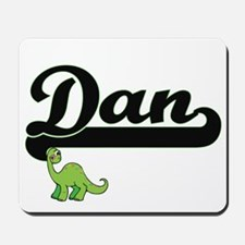 Dan Classic Name Design with Dinosaur Mousepad