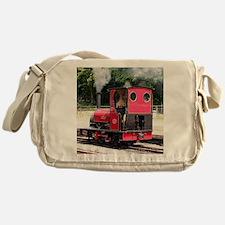 Red steam train engine, Wales 2 Messenger Bag