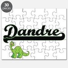 Dandre Classic Name Design with Dinosaur Puzzle