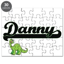 Danny Classic Name Design with Dinosaur Puzzle