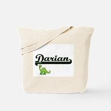 Darian Classic Name Design with Dinosaur Tote Bag