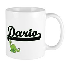 Dario Classic Name Design with Dinosaur Mugs