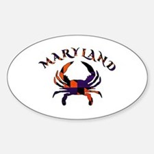 Maryland Flag Orange And Purple Decal