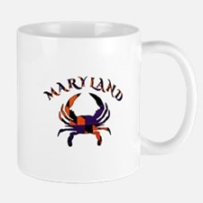 Maryland Flag Orange And Purple Mugs
