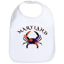 Maryland Flag Orange And Purple Bib