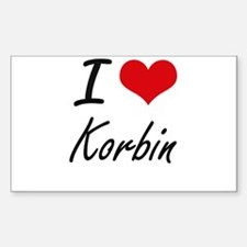 I Love Korbin Decal