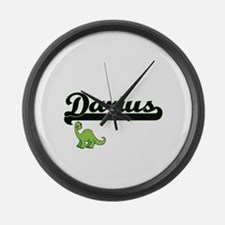Darius Classic Name Design with D Large Wall Clock