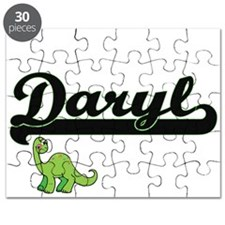 Daryl Classic Name Design with Dinosaur Puzzle