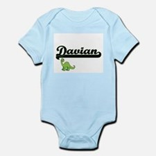 Davian Classic Name Design with Dinosaur Body Suit