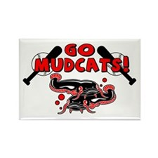 Go Mudcats Rectangle Magnet