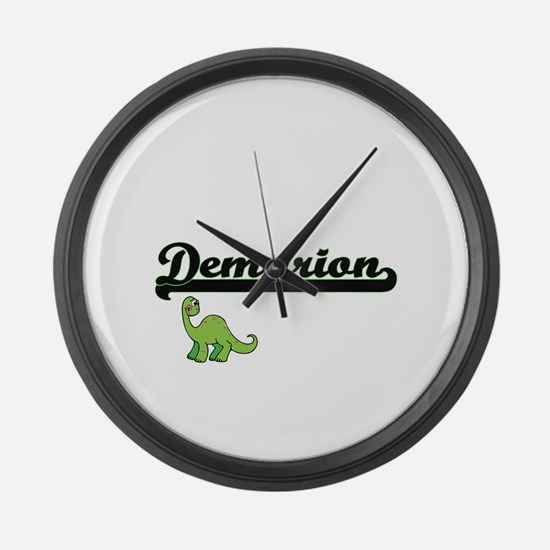 Demarion Classic Name Design with Large Wall Clock