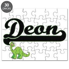 Deon Classic Name Design with Dinosaur Puzzle