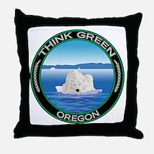 Environmental Polar Bear Oregon Throw Pillow