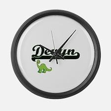 Devyn Classic Name Design with Di Large Wall Clock