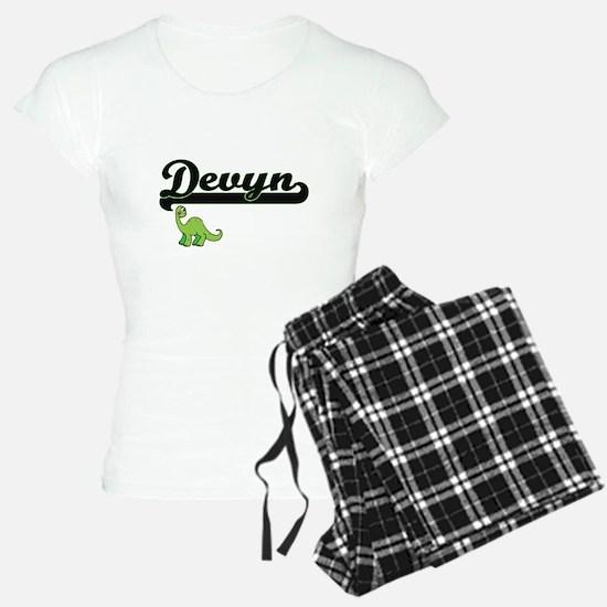 Devyn Classic Name Design w Pajamas