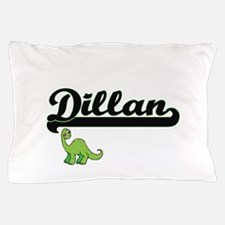 Dillan Classic Name Design with Dinosa Pillow Case