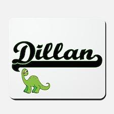 Dillan Classic Name Design with Dinosaur Mousepad