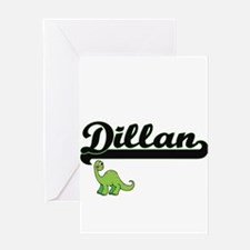 Dillan Classic Name Design with Din Greeting Cards