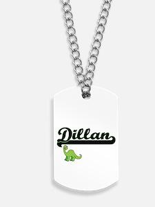 Dillan Classic Name Design with Dinosaur Dog Tags