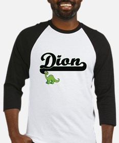 Dion Classic Name Design with Dino Baseball Jersey
