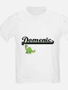 Domenic Classic Name Design with Dinosaur T-Shirt