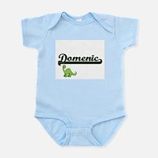 Domenic Classic Name Design with Dinosau Body Suit