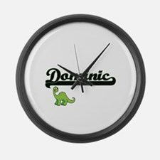 Dominic Classic Name Design with Large Wall Clock