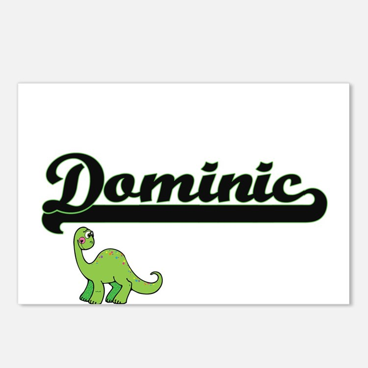 Dominic Classic Name Desi Postcards (Package of 8)