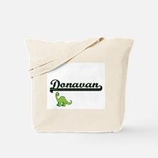 Donavan Classic Name Design with Dinosaur Tote Bag