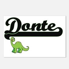 Donte Classic Name Design Postcards (Package of 8)