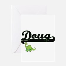 Doug Classic Name Design with Dinos Greeting Cards
