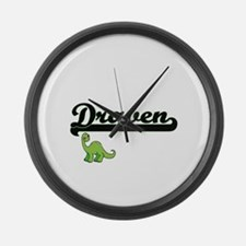 Draven Classic Name Design with D Large Wall Clock
