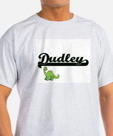 Dudley Classic Name Design with Dinosaur T-Shirt