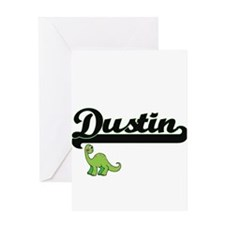 Dustin Classic Name Design with Din Greeting Cards