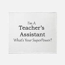 Teacher's Assistant Throw Blanket