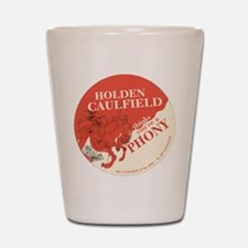 holden caulfield Shot Glass
