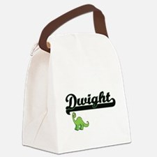Dwight Classic Name Design with D Canvas Lunch Bag