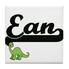 Ean Classic Name Design with Dinosaur Tile Coaster