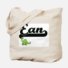 Ean Classic Name Design with Dinosaur Tote Bag