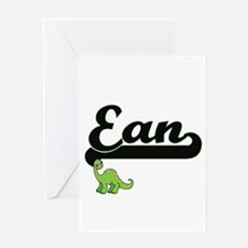 Ean Classic Name Design with Dinosa Greeting Cards
