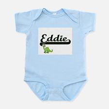 Eddie Classic Name Design with Dinosaur Body Suit