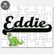 Eddie Classic Name Design with Dinosaur Puzzle