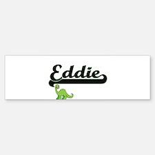 Eddie Classic Name Design with Dino Bumper Bumper Bumper Sticker