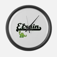 Efrain Classic Name Design with D Large Wall Clock