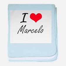 I Love Marcelo baby blanket