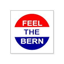 "Feel The Bern Square Sticker 3"" x 3"""