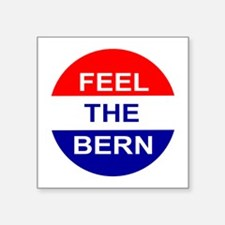 "Feel The Bern Square Sticker 3"" x 3"""