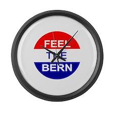 Feel The Bern Large Wall Clock